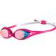 arena Spider Mirror Svømmebriller Børn pink/hvid